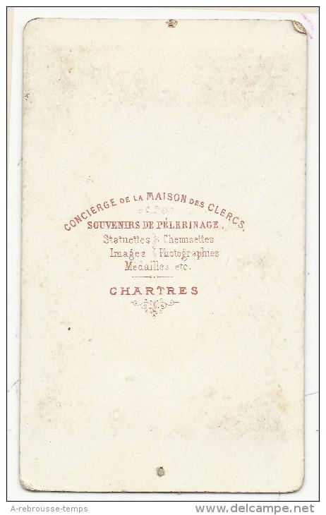 CDV -la Cathédrale De Sens-photographie Marquet Père Et Fils 4 Rue Thenard à Sens - Anciennes (Av. 1900)