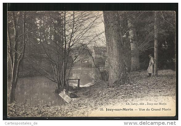 CPA Jouy-sur-Morin, Vue Du Grand Morin - France