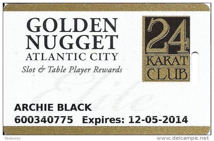 Golden Nugget Casino Atlantic City NJ Elite Slot Card (No Mfg Mark) - Casino Cards