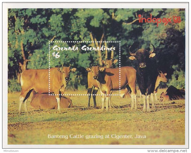 MDA-BK1-293 MINT POSTFRIS ¤ GRENADA & GREN. BLOCK ¤ COWS - KOEIEN -  MAMMALS OF THE WORLD - DIFF. ANIMALS - Koeien