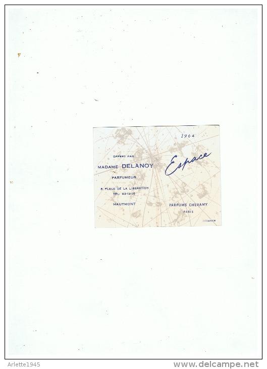 ESPACE  MADAME DELANOY  PARFUMEUSE à  HAUMONT  (NORD)  1964 - Reclame