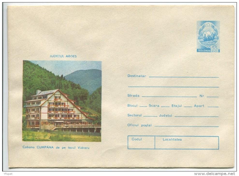 Vidraru - Cumpana Chalet  - Stationery (stamp : The Romanian Coat Of Arms) - Hotels, Restaurants & Cafés