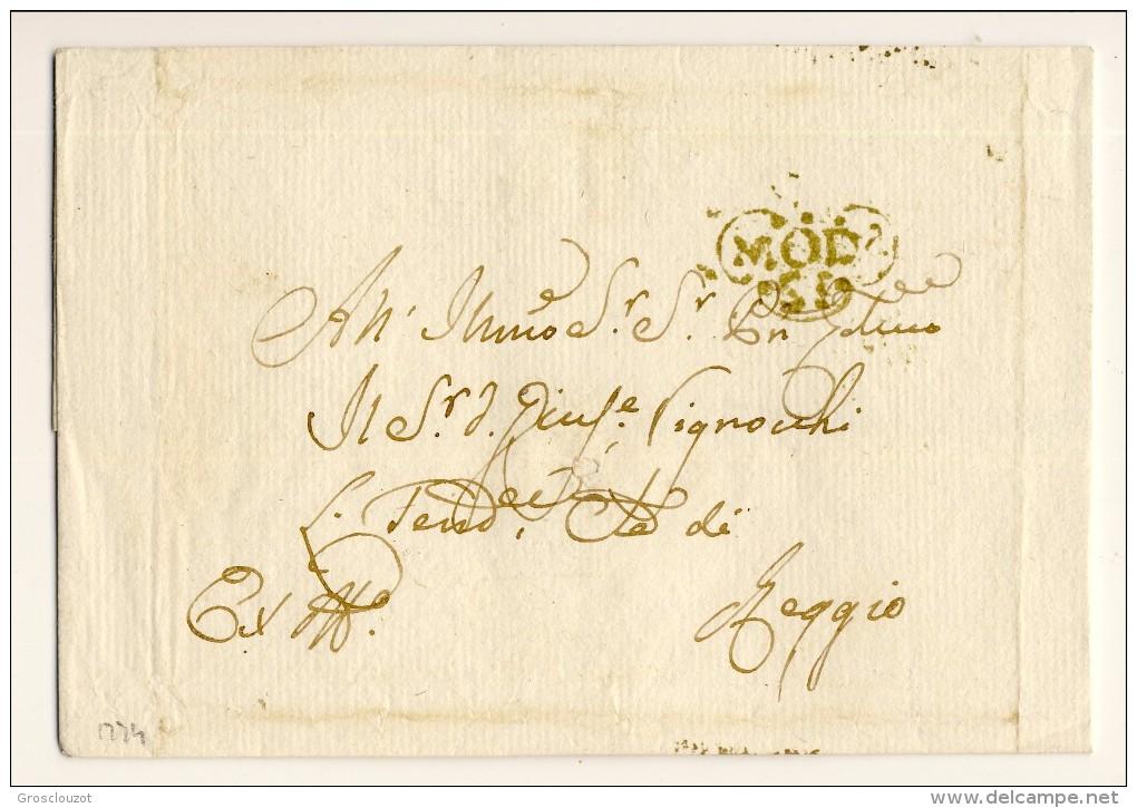 Modena. Eccezionale Raccolta 150 Pieghi 1770-1798 Su Carta Pergamena Con Annulli A Cuore Serie Rosso-verde-nero. € - Modena