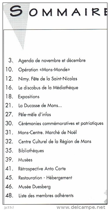 Ancien Numéro De Mons InfoS Dec 1995 Voir Scan Du Sommaire (48 Pages, En Français) - Dépliants Touristiques