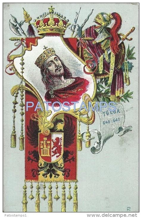24233 ROYALTY SPAIN ART KING OF THE VISIGOTHS TULGA POSTCARD - Familles Royales