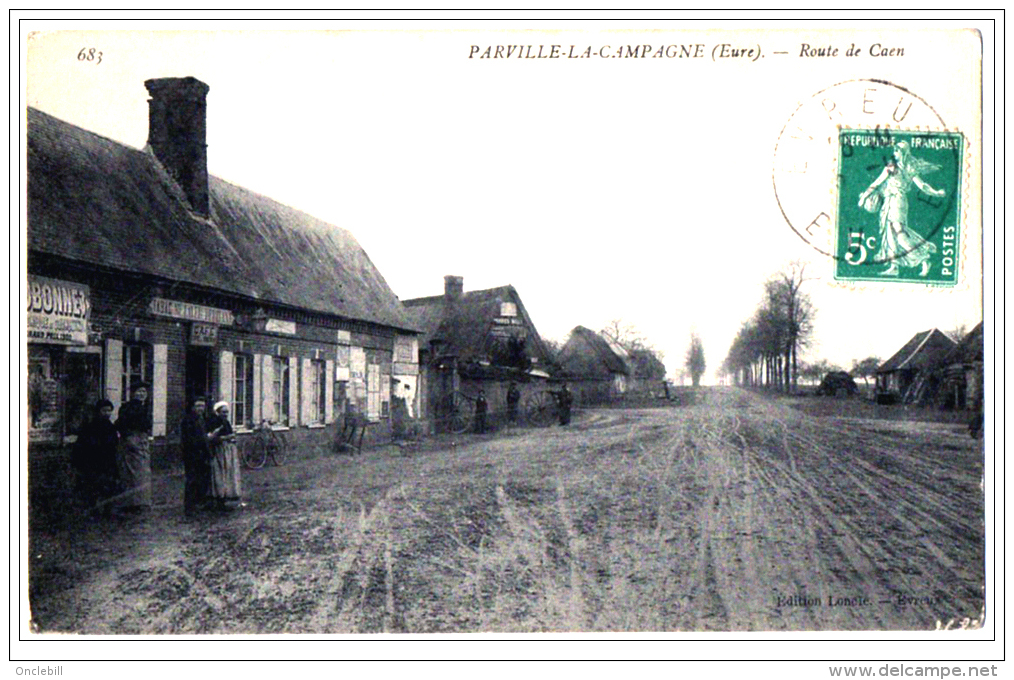 Parville La Campagne Eure Tabac Metayer Pub Dubonnet Garage 1910 état Très Bon - France