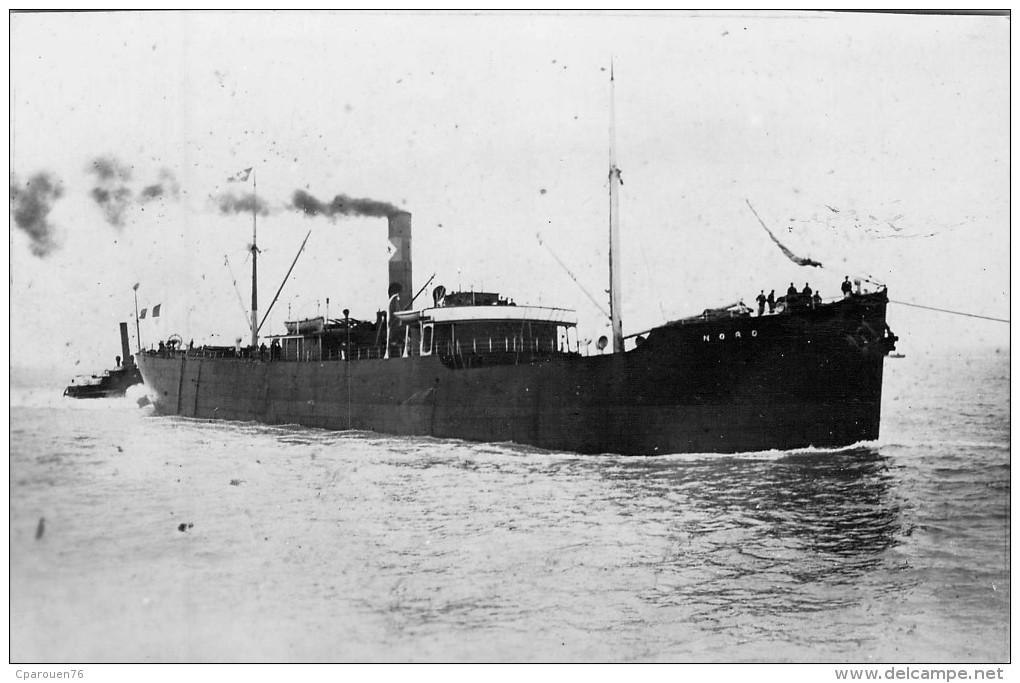 """PHOTO  Ancienne BATEAU IDENTIFIE """" Nord """"  C.b;v;n  Construit En 1904 Sunderland Coulé En 1942 - Boats"""