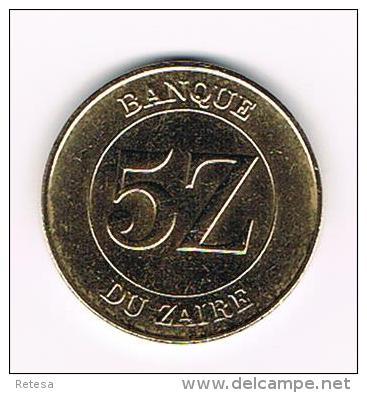 ¨¨  ZAIRE  5 ZAIRES   1987 - Zaire (1971-97)