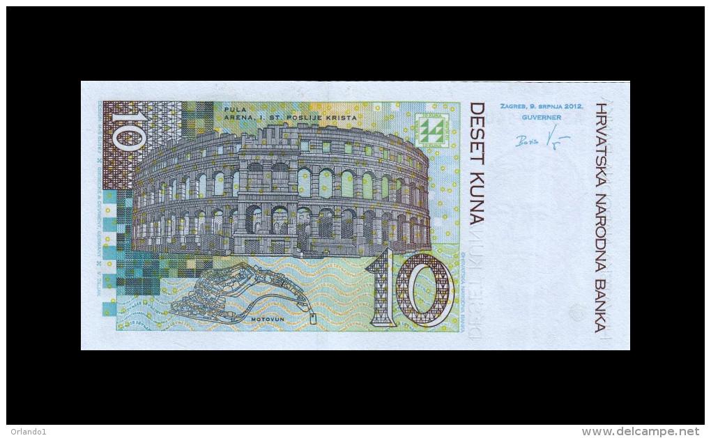 CROATIA 10 KUNA 2012 P 38b UNC - Croatie