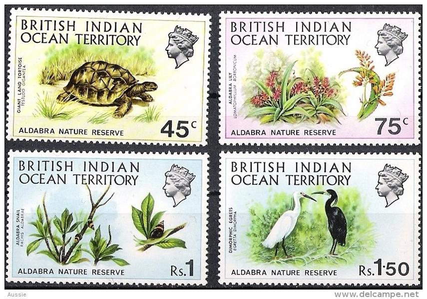 British Indian Ocean Territory 1971 Yvertn° 39-42 *** MNH  Cote 35,00 Euro Faune - Territorio Británico Del Océano Índico