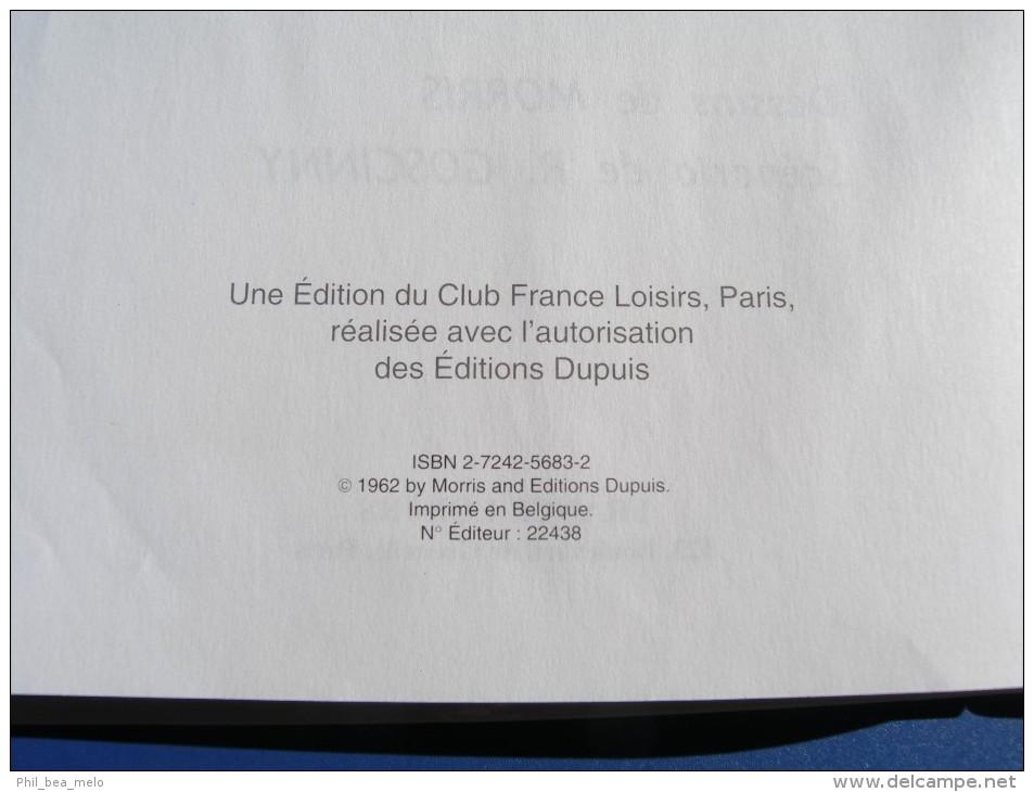 BD - LUCKY LUKE - DUPUIS FRANCE LOISIRS - BILLY THE KID - MORRIS / GOSCINNY - Lucky Luke
