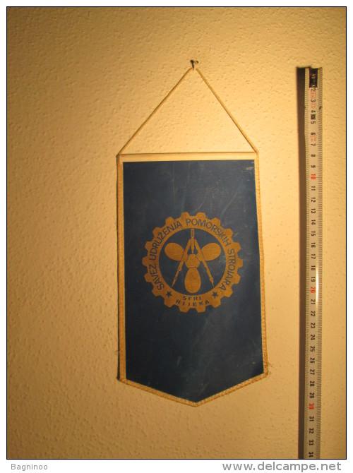 Assosiation Of Marine Engineers Of Yugoslavia Pennant - Organizations