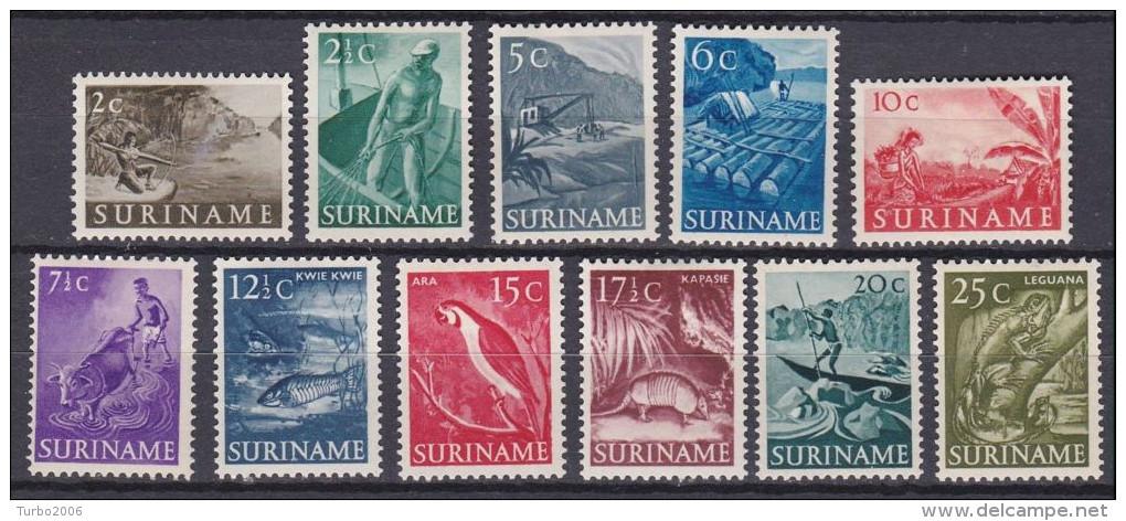 SURINAME 1953-54 Inheemse Voorstellingen Ongestempelde Serie NVPH 297 / 307 - Suriname ... - 1975