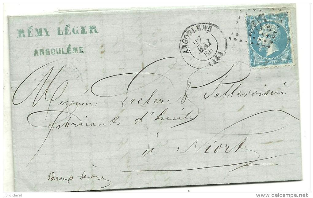 CARTA 1866 ANGOULEME - Marcofilia (sobres)