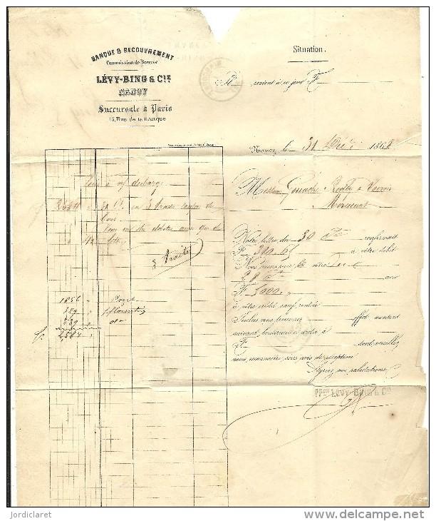 CARTA 1868 NANCY - Marcofilia (sobres)
