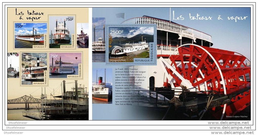 TOGO 2014 ** M/S + S/S Steamboats Dampfschiffe Bateaux à Vapeur Barcos De Vapor A1442 - Ships