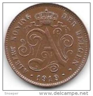 *belguim 2 Centime 1919  Dutch     Xf+ - 02. 2 Centimes