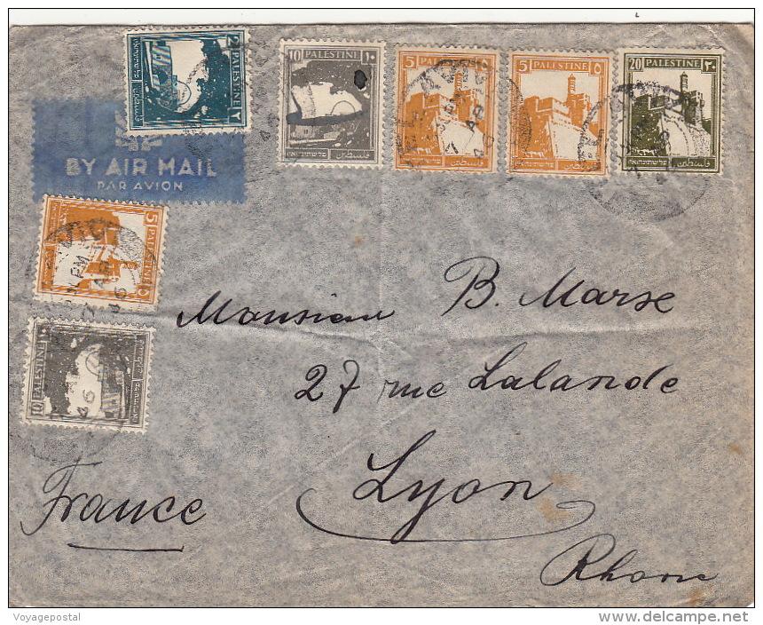 1946- Lettre Israel Tel Aviv Pour La France - Palestine
