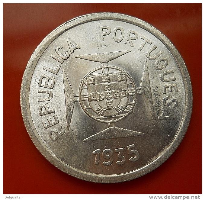 Portugal Índia 1 Rupia 1935 Silver BU - Portugal
