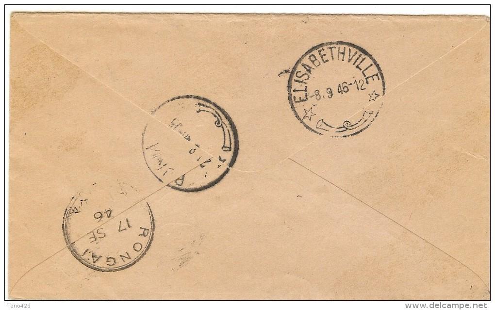 LPF5/BL - CONGO BELGE LETTRE AVION GOMA / RONGAI 23/8/1946 - Belgian Congo