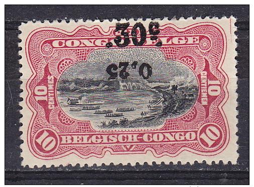 Congo Belge - Belg.Kongo  Cat OBP-COB  Nr 105-Cu  Curiosité - Varieteit   MH    (x) - 1894-1923 Mols: Neufs