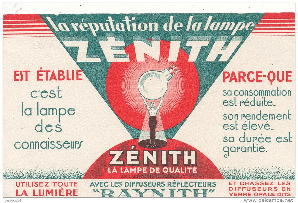 BU 1390/  BUVARD  LAMPE ZENITH - Electricité & Gaz