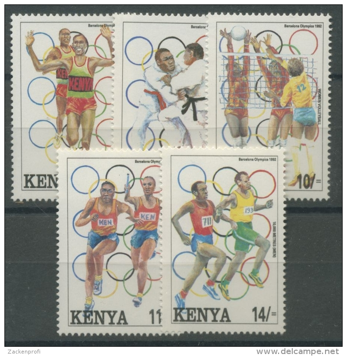 Kenia 1992 Olympische Sommerspiele In Barcelona 560/64 Postfrisch - Kenia (1963-...)