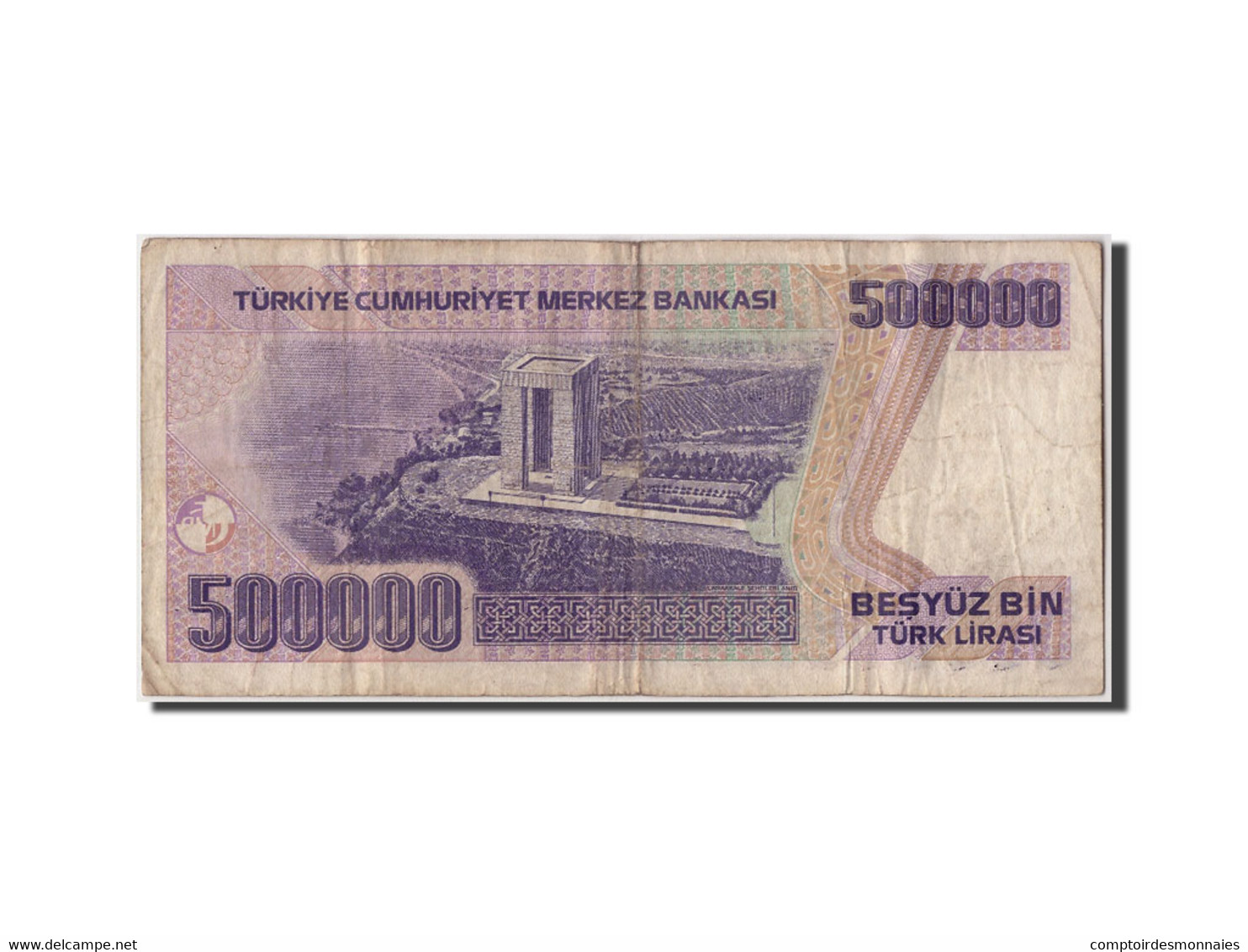Turquie, 500,000 Lira, L.1970 (1998), KM:212, Non Daté, TB - Turquie