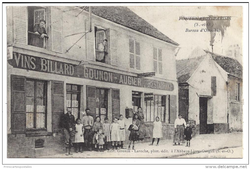 CPA 95 Fontenay En Parisis Bureau D'Omnibus - France