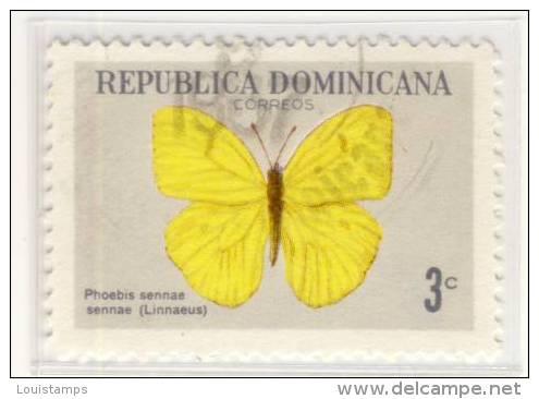 Dominikanische Republik - Mi.Nr.DO - 870, Butterfly - 1966  Refb3 - Dominican Republic