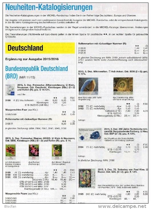 Briefmarken Rundschau MICHEL 12/2015 Neu 6€ New Stamp Of The World Catalogue And Magacine Of Germany ISBN4 194371 105009 - Tempo Libero & Collezioni