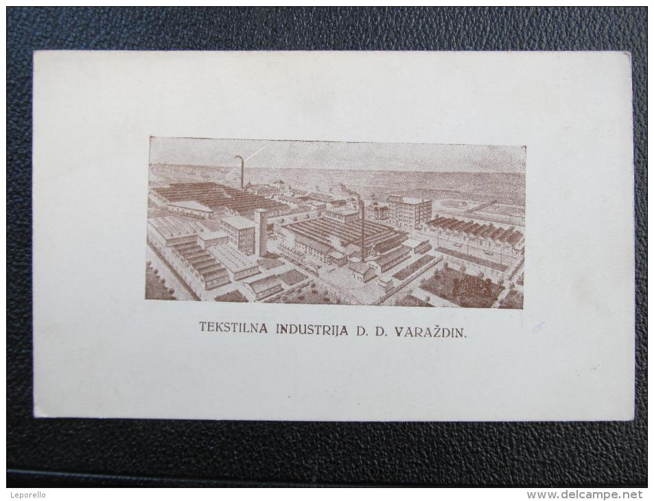 AK VARAZDIN Tekstilna Industria Ca.1920 /// D*18426 - Croatia