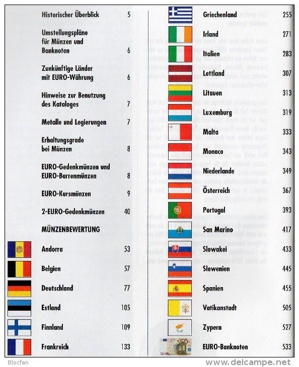 Deutschland EURO Katalog 2016 Für Münzen Numisblätter Numisbriefe Neu 10€ Mit €-Banknoten Coin Numis-catalogue Of EUROPA - Alte Papiere
