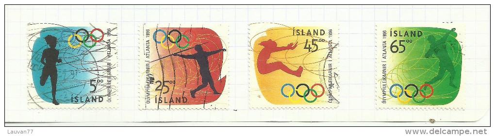 Islande N°799 à 802 Cote 3.25 Euros - Used Stamps