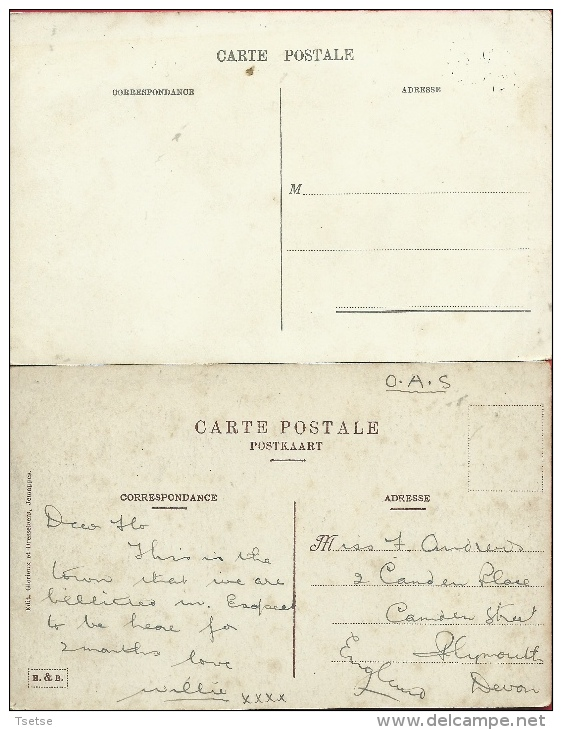 Quaregnon-Lourdes - L´Eglise - 2 Cartes Postales  ( Voir Verso ) - Quaregnon