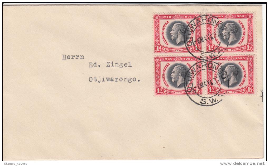 SWA FDC MICHEL 168 KING GEORGE V OTJIWARONGO - South West Africa (1923-1990)