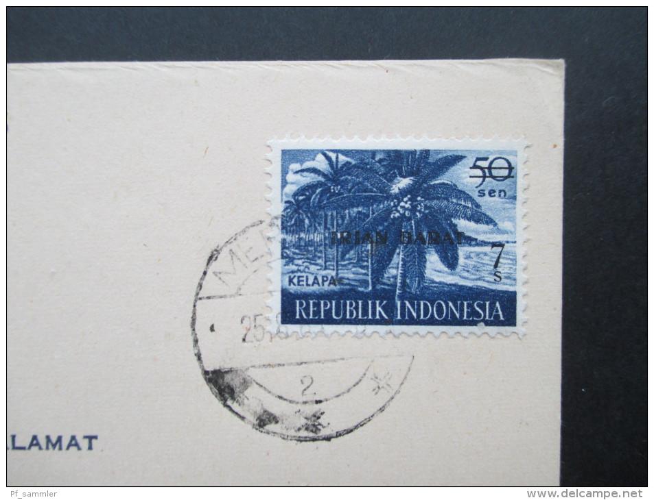 Indonesien 1969 Provinz Irian Barat Michel Nr. 5 West Irian. Bedarf!! Merauke. Seltene Verwendung!! - Indonesien