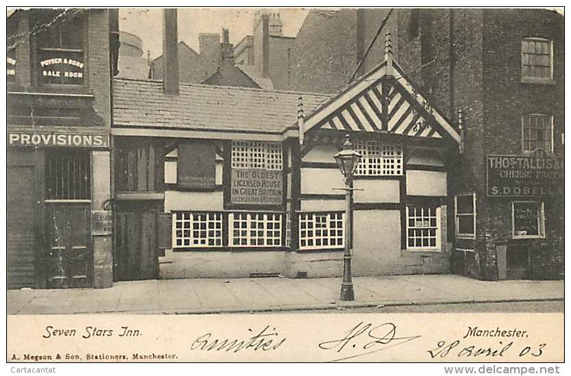 MANCHESTER. SEVEN STARS INN. CARTOLINA DEL 1903 - Inghilterra