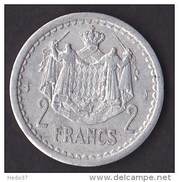 Monaco - Louis II - 2 Francs - Gadoury N°133 - SUP - Monaco