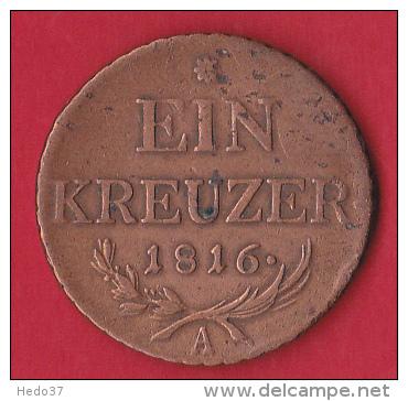 Autriche - 1 Kr - 1816A - Pick N°2113 - TTB - Autriche