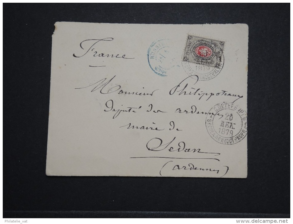 RUSSIE - Enveloppe ( Grand Manque Au Dos ) Pour La France En 1879 - A Voir - Lot P14219 - 1857-1916 Imperium