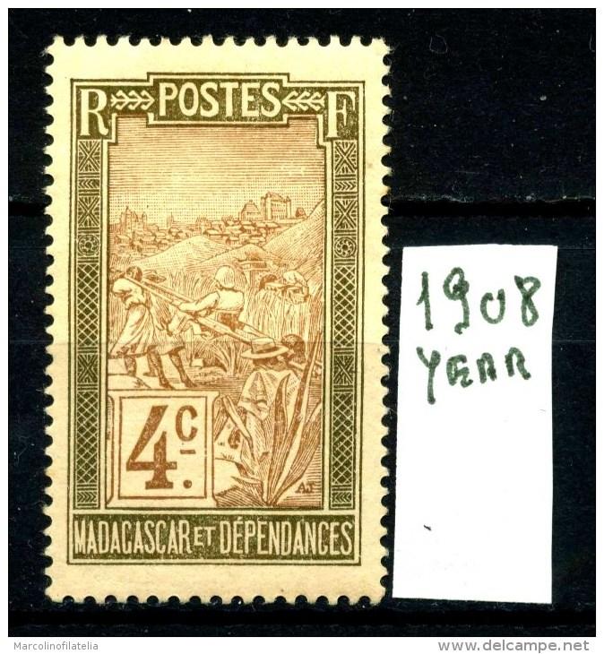 FRANCIA - MADAGASCAR - Year 1908 - Nuovo - News - MLH*. - Ungebraucht