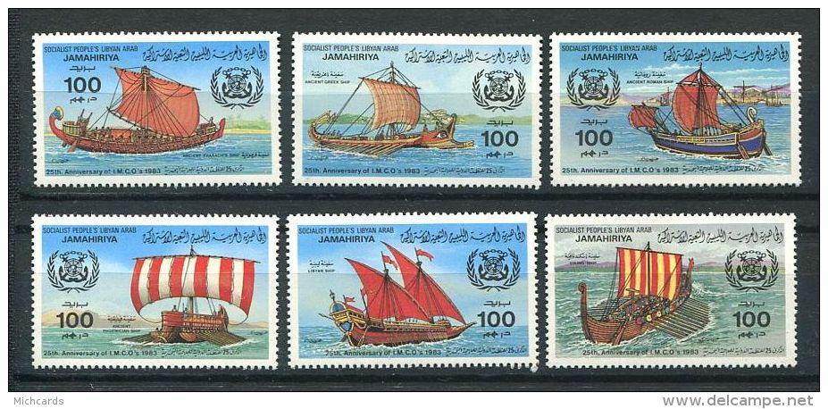 154 LIBYE 1983 - Ancien Bateau (Yvert 1118/23) Neuf ** (MNH) Sans Charniere - Libye
