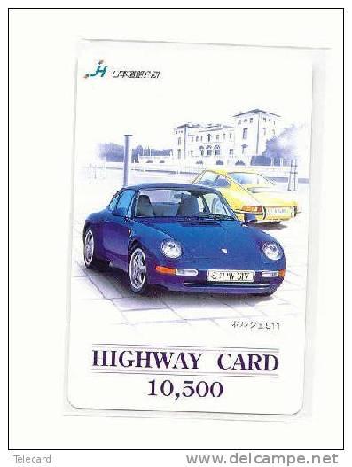Carte Prépayée Japonaise PORSCHE (3) Voiture Car Auto Phonecard Japon - Cars