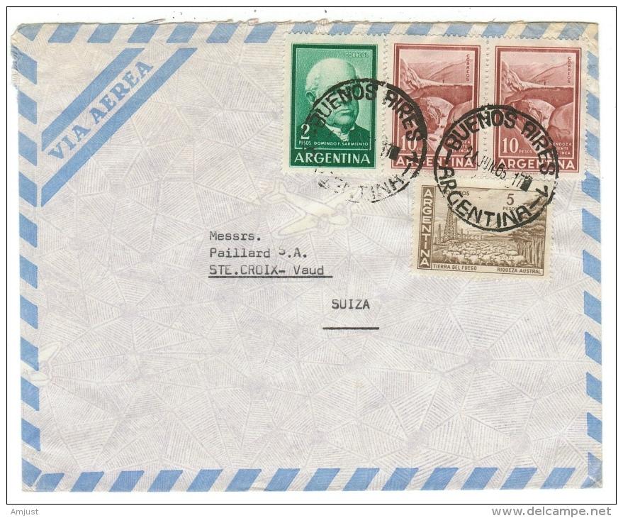 Argentine // Lettre De Buenos Aires Pour La Suisse - Covers & Documents