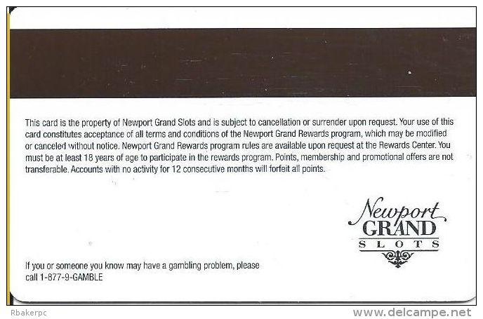 Newport Grand Casino Newport RI Slot Card  (Blank) - Casino Cards