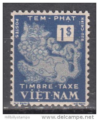 Viet Nam--south   Scott No.  J6     Unused Hinged     Year  1952 - Vietnam