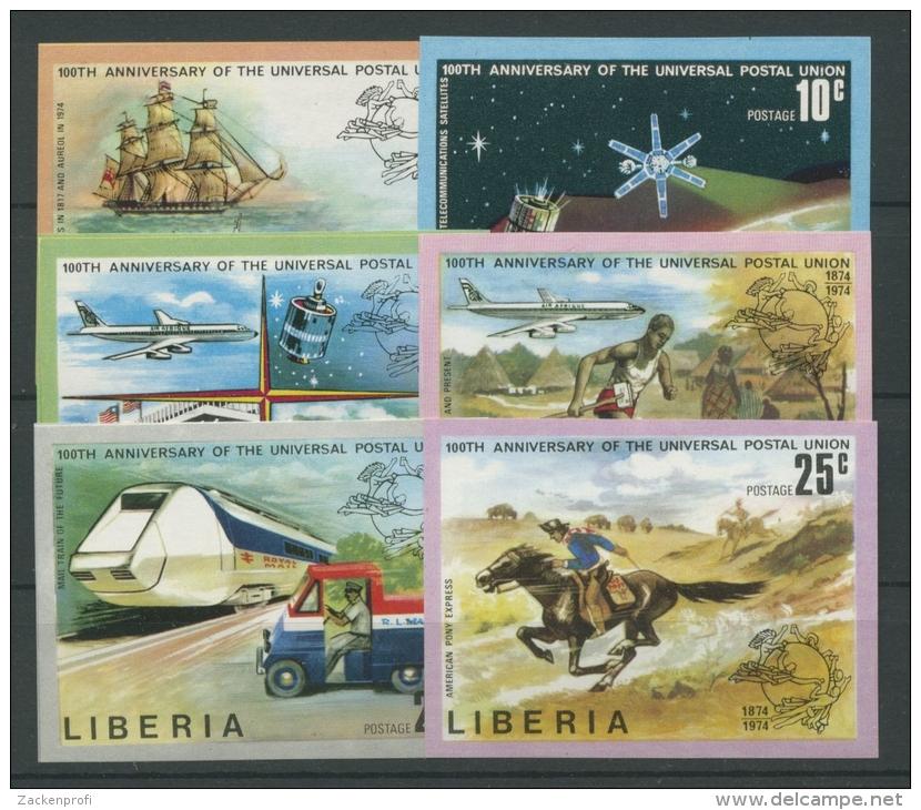 Liberia 1974 100 Jahre Weltpostverein 907/12 B Geschnitten Postfrisch - Liberia