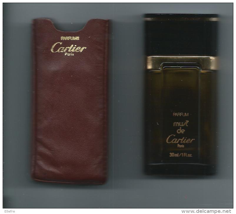 CARTIER Grand Flacon De Parfum Must De Cartier - 30 Ml - Verre Fumé Ocre Brun - Avec étui Cuir Bordeaux Cartier Paris - - Bottles (empty)