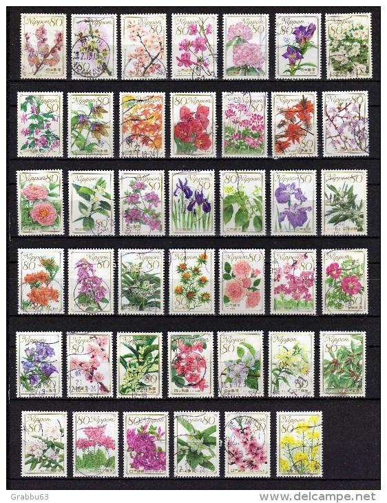 Japon - Flore  - Lot 253 - Oblitérés - 1989-... Imperatore Akihito (Periodo Heisei)